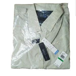 Van Heusen Studio slim fit shirt 16-16-1/2 Bin7